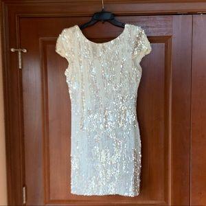 Beautiful White Sequins Dress
